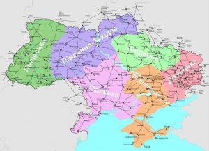 Eisenbahnnetz Ukraine